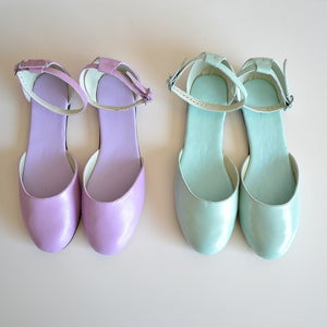 Image of Vita color block open sandal/ballet flats