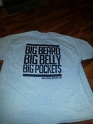 Image of BIG BEARDS BIG BELLY BIG POCKETS T SHIRT HEATHER GREY WITH BLACK PRINT