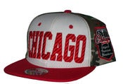 Image of Chicago Tri Color Camo Snapback Hat Cap