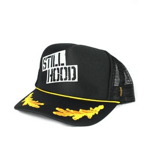 Image of SH Stencil Hat  Gold Oak Leaf