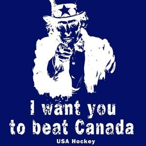 Image of I Want You To Beat Canada - Uncle Sam hockey shirt