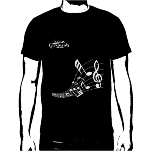Image of LG Music T-Shirt Black/White