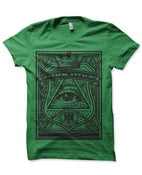 Image of Attack! Attack! Green all seeing eye Tshirt