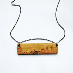 Image of Des Moines Skyline Necklace by Maple + Mauve