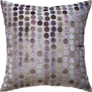 Image of Linen and Velvet Dots Pillow