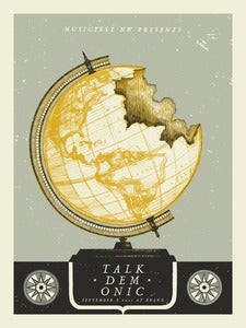 Image of Talkdemonic Gigposter