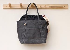 Image of Cinch Tote - Slate & Waxed Indigo Denim