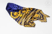 Image of Gianni Versace silk foulard Barocco Leopard:: vintage accessories