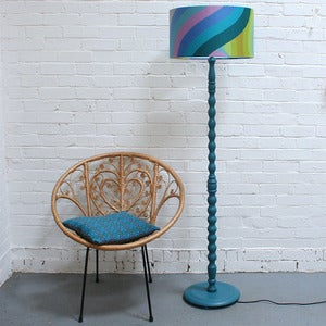Image of Vintage Teal Floor Lampbase