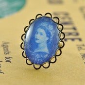 Image of Queen's Head Adjustable Stamp Ring
