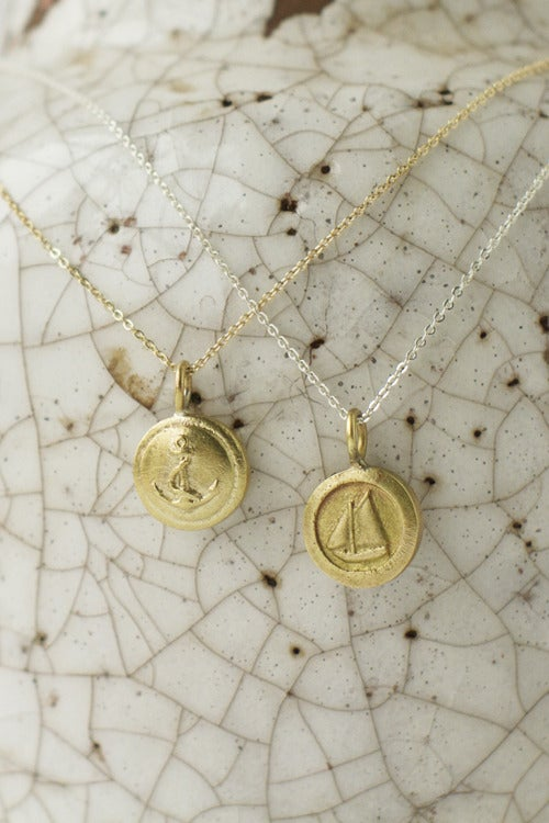 Image of Nautical Emblem Pendant Necklace