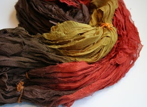 Image of A Simple Thanksgiving Reclaimed Silk Chiffon Ribbon
