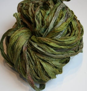 Image of Beanstalk Reclaimed Silk Sari Ribbon