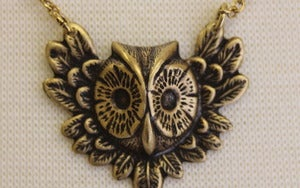 Image of Flying Owl Necklace