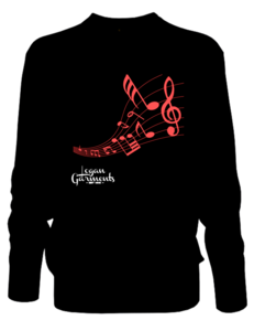 Image of LG Music Jumper Black/Red
