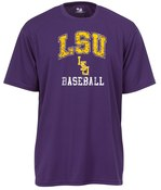 Image of LSU Baseball - Badger Performance Tee