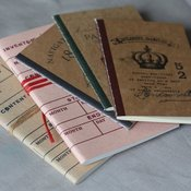Image of Carnet au look rtro ou vintage - 2 modles - plusieurs motifs