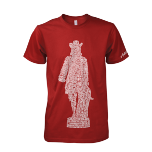 Image of William Penn Statue Tee (Cardinal)