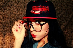 Image of Black & Red Fresh Shxt Snapback