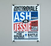 Image of Contenders Poster vintage inspired battle print
