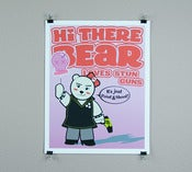 Image of Hi there bear stun gun print