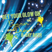 Image of Glow in the Dark printable invitations