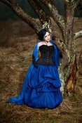 Image of Taffeta Elegance Skirt in Deep Blue