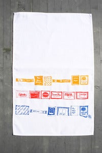 Image of Sugar and Sweetner - Sachet Tea Towel