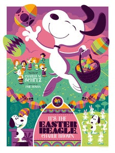 Image of it's the easter beagle, charlie brown : variant edition AP screenprint