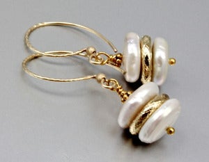 Image of Ivory Freshwater Pearl and 14K Gold-Fill Earrings