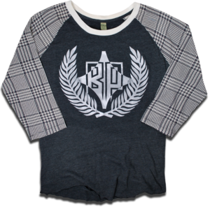 Image of &quot;The Houndstooth&quot; raglan tee by Backpage Press