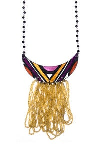 Image of Purple Reign Beaded Necklace
