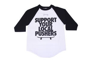 Image of Pushers Raglan (Black / White)
