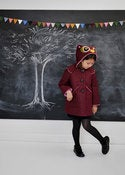 Image of Little Owl Coat in Grey, Pink Or Burgundy