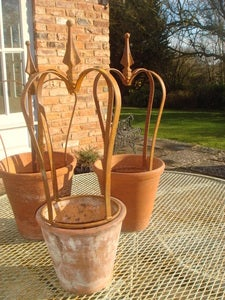 Image of Rusty Hand Forged Pot Crowns