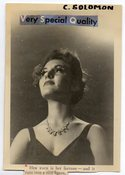 Image of A WOMAN OF VERY SPECIAL QUALITY & LONG EYE LASHES VINTAGE PHOTO