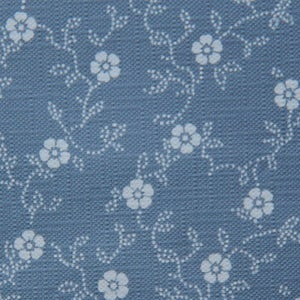 Image of Wallpaper/blue with flowers