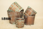 Image of Copper Tubs - FIVE Sizes - Vintage Style - Newborn Toddler Child