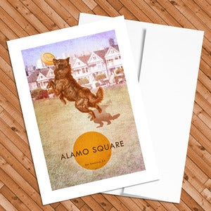 Image of Alamo Square – 5x7 Postcard