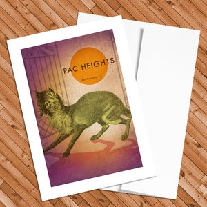 Image of Pacific Heights - 5x7 Postcard - Final stock!