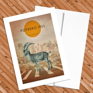 Image of Potrero Hill - 5x7 Postcard