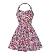 Image of Vintage Style Rose Print Party Dress
