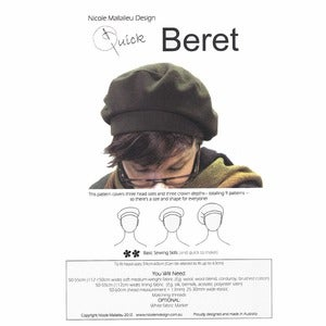 Image of You Sew Girl - Adults Beret Pattern