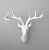 Image of White Reindeer Wall Art
