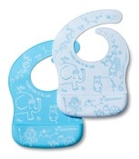 Image of Weanmeister Easy Rinse Bibs - Blue