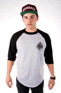 Image of ORIGINALS 3/4 SLEEVE - BLACK