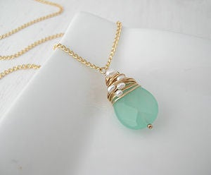 Image of Seaglass Briolette Necklace