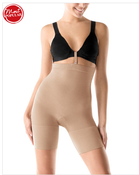 Image of Spanx Slim Cognito Shaping Mid-Thigh Bodysuit Nude Sm and Med NEW 067