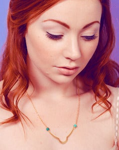 Image of Hebe Small Turquoise Collar Necklace