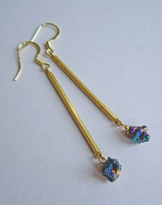 Image of Andromeda Titanium Quartz Drop Earrings